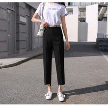Plus Size Formal Pants Office Lady Style Work Wear Straight Trousers Female Clothing Business Design New Hot Fashion 6609
