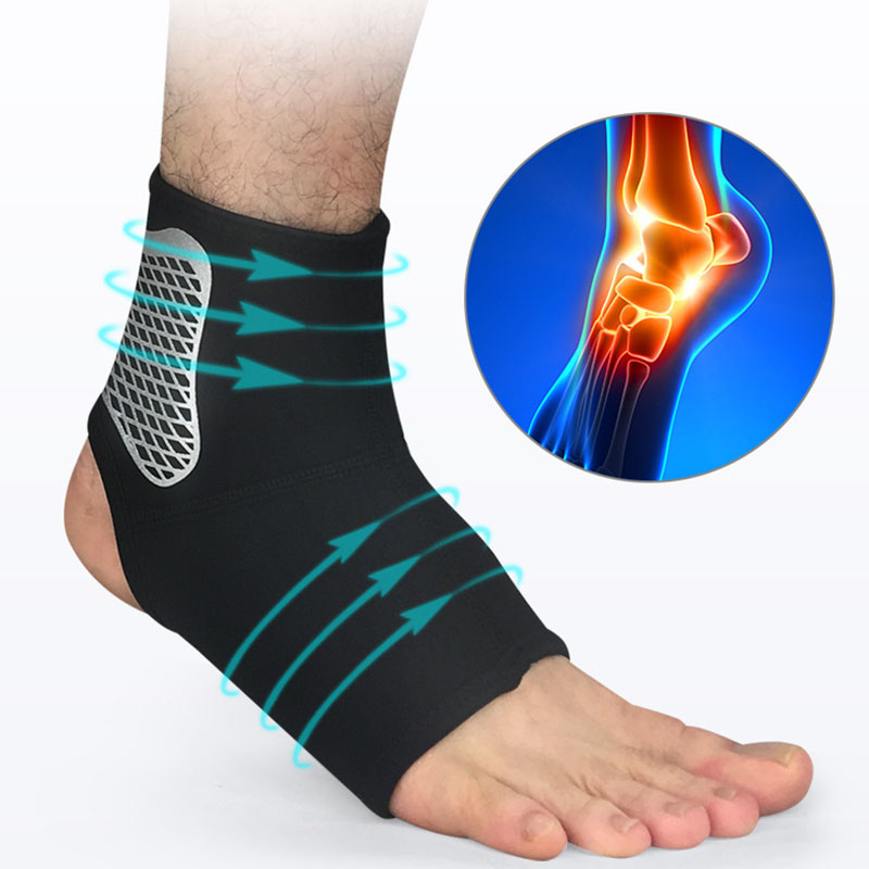 1PC Ankle Support Gym Running Protection Elastic Ankle Brace Band Guard Sport Black Foot Bandage