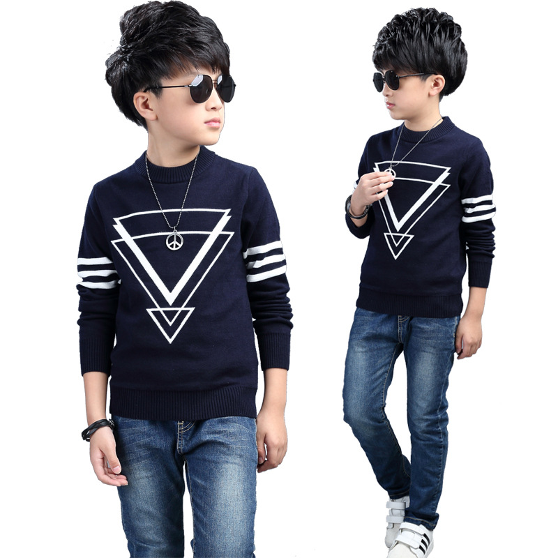 7a43b0ddceda KEAIYOUHUO Boy s Sweater 2017 New Winter Baby Boy Clothes Patchwork ...
