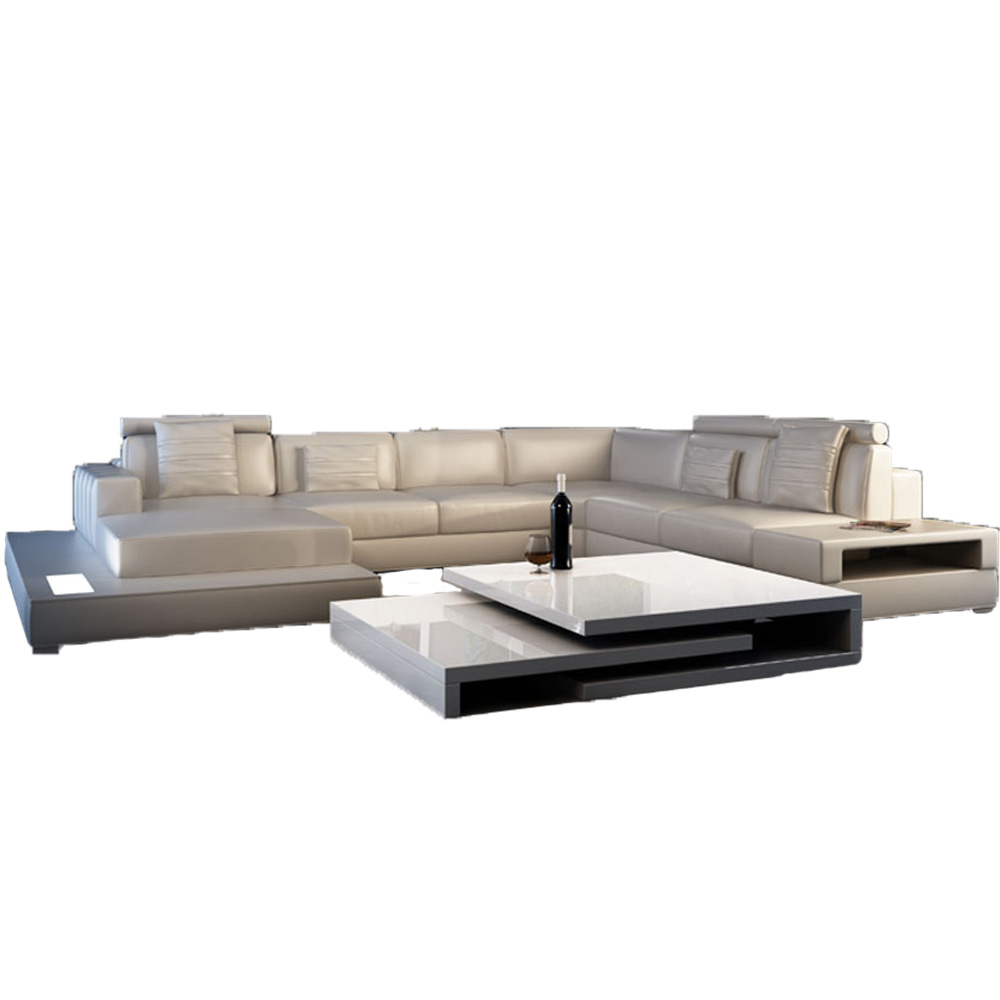 US $1498.0  Luxury modern living room leather sectional sofa-in Living Room  Sofas from Furniture on Aliexpress.com   Alibaba Group