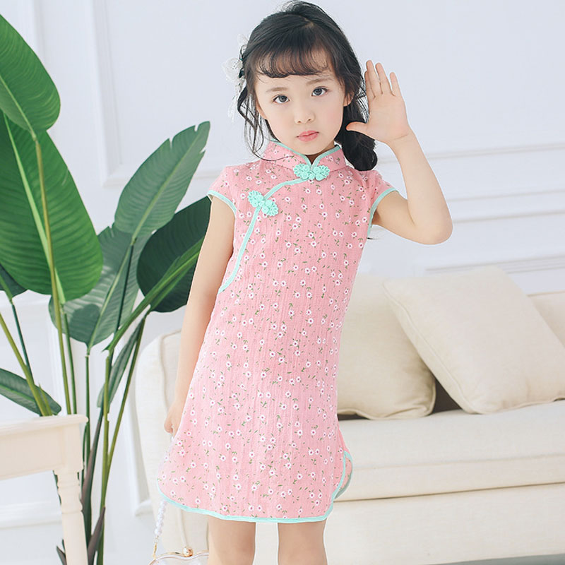 Summer Baby Kids Girl Dress Qipao Princess Party Dress For Girls Clothes Children Princess Dresses Birthday Wedding Cheong-sam