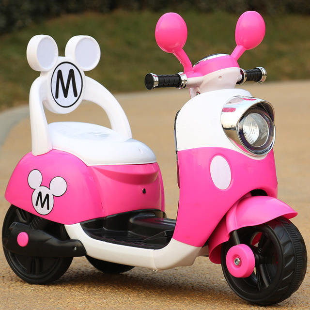 2019 new children  electric toy car men and women children baby three-wheel pedal Mulan battery motorcycle 1