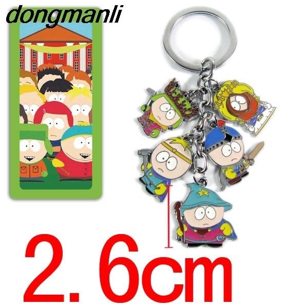 P1659 Dongmanli Anime South Park action figure toys car keychain pendant cartoon mini model dolls kids kawaii toys gifts