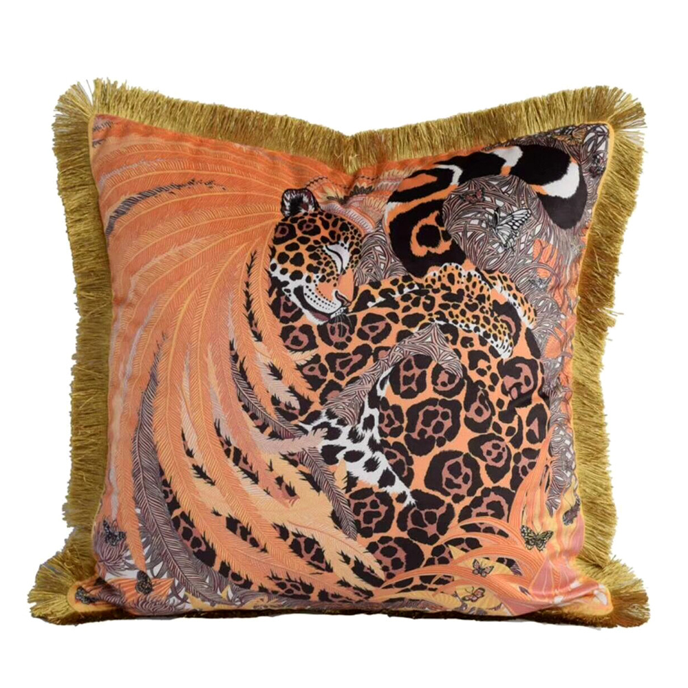 Luxury Velvet Tassel Cushion Cover Soft Double Printed Animal Pillow Cover Pillowcase Home Decorative Sofa Throw Pillows ChairLuxury Velvet Tassel Cushion Cover Soft Double Printed Animal Pillow Cover Pillowcase Home Decorative Sofa Throw Pillows Chair