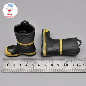 Image 1 - 1/6 Boots Model Fireman Anti slip Shoes For 12 inches Soldiers Action Figures Scene Accessories