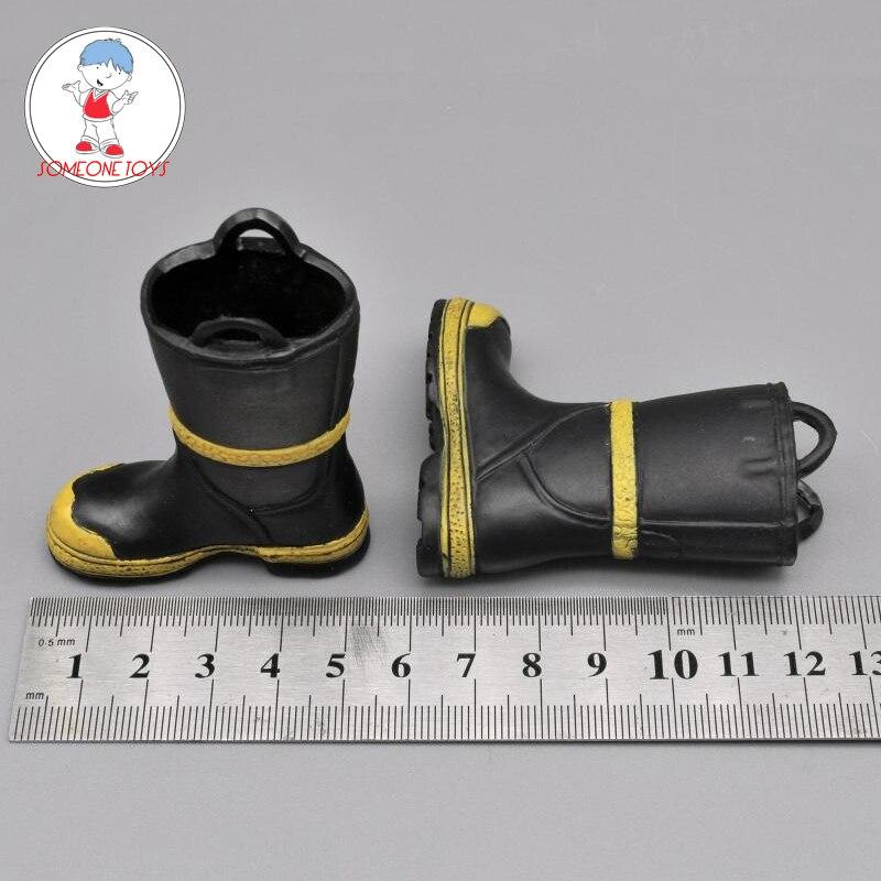 1/6 Laarzen Model Brandweerman Anti-slip Schoenen Voor 12 Inch Soldaten Action Figures Scène Accessoires Grondstoffen Zijn Zonder Beperking Beschikbaar