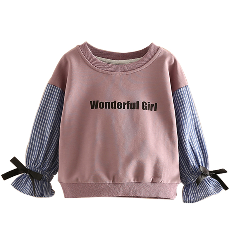 New Fall winter Girl Shirt 2-12 Y Baby little Girls lovely Casual Child Long Sleeved School Child Shirt Street Cotton Kids Tee