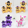 25cm / 14cm FNAF Plush toys Five Nights At Freddy's pendant Golden Freddy Nightmare Fredbear Shadow Freddy Mangle keychain toys
