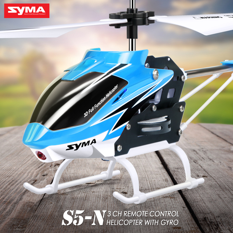 helmapter radio-control syma s5 - SYMA Official S5-N 3CH Mini RC Helicopter Built in Gyroscope Indoor Toy for Kids