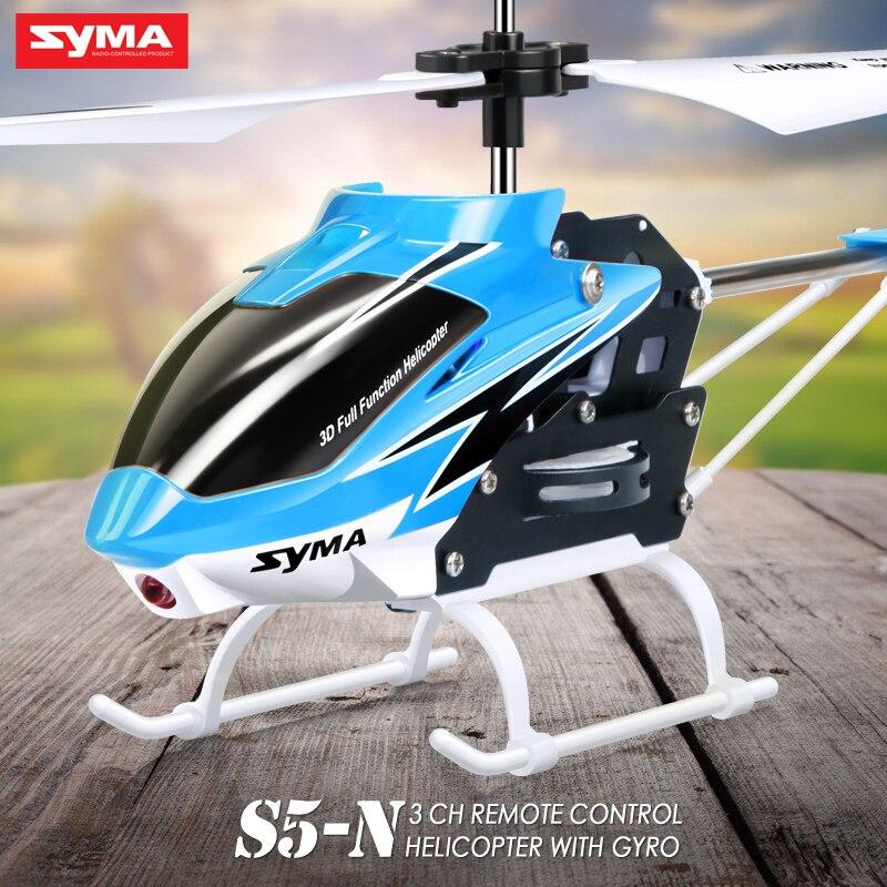 SYMA S5-N oficial 3CH Mini helicóptero RC construido en giroscopio de juguete de interior para niños JJRC H8 Mini Drone sin cabeza modo Dron 2,4G 4CH RC helicóptero 6 Axis Gyro 3D eversión RTF 360 grados con luces nocturnas LED