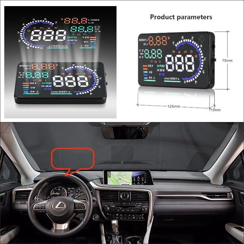 76ac91d45 سيارة شاشة الكمبيوتر عرض ضوئي refkecting windshield لكزس lx rx 450 h RX350  lx570 2015 2016-القيادة الآمنة الشاشة