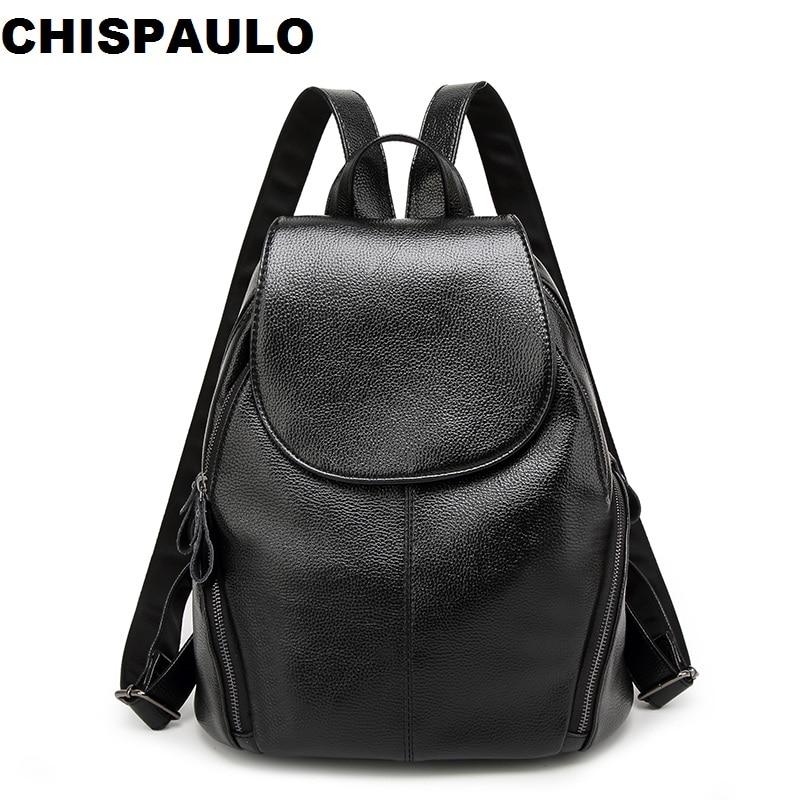 Women Genuine Leather Backpack School Bags For Teenagers Girls Travel Bag Designer High Quality Sheepskin Backpacks Mochila N109 стоимость
