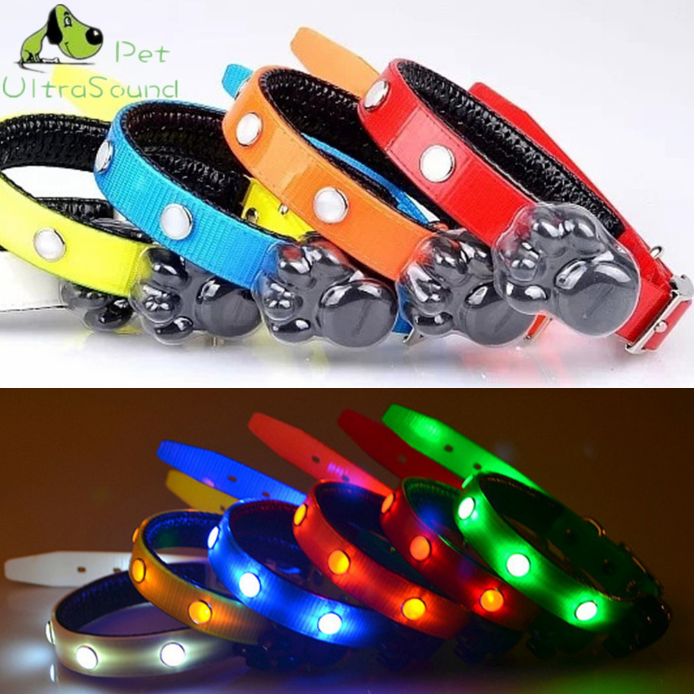 ULTRASOUND PET Dog Led Collar For Cat Glow Collar LED Pet Products For Pet TPU Luminous Necklace Gem LED Dog Collars Size S M L