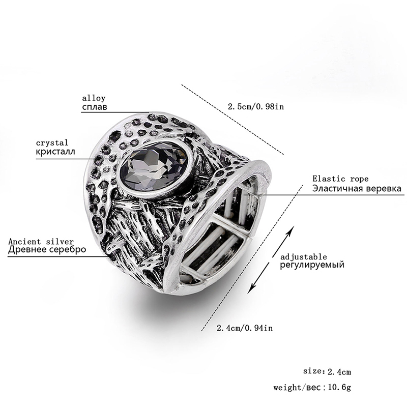 Women 39 s Vintage Engagement Ring Big Punk Europen Style Adjustable Finger Ring Bohemia Jewelry Ancient Silver Wedding Ring 2019 in Rings from Jewelry amp Accessories