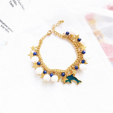 Creative star chain bracelet with South Korea's personality Ms. Dolphin birthday gift bracelet bracelet statement