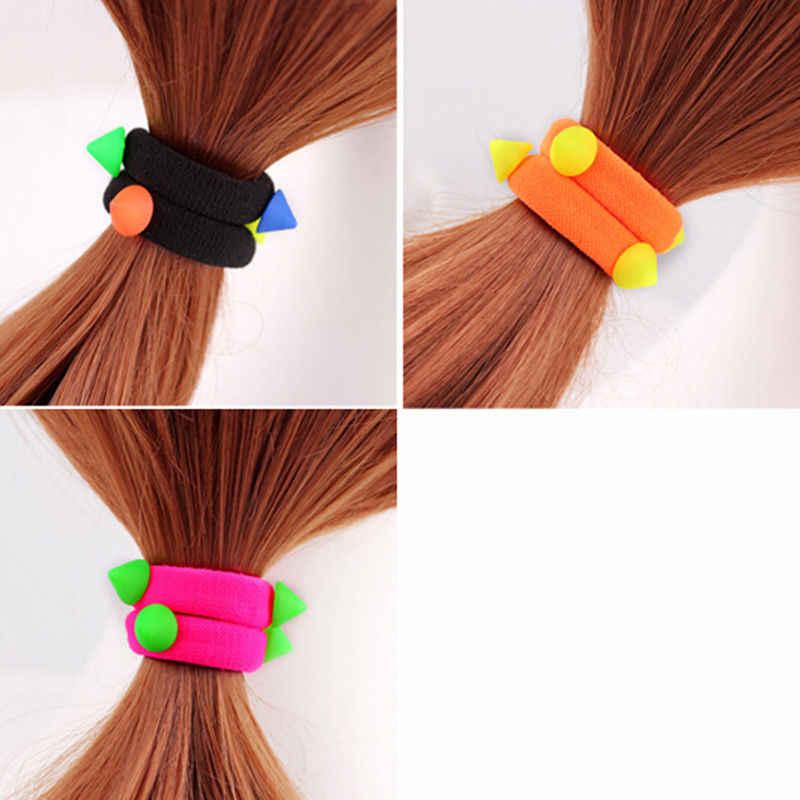 Упругие волосы связей детей группы Веревка хвост держатели оголовье Scrunchie для укладки волос для смесь цветов для маленьких девочек