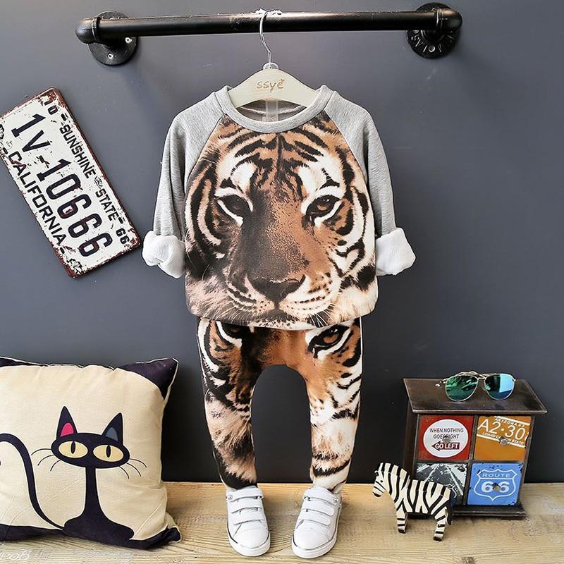 Осень-зима бархатные комплекты одежды для маленьких девочек мультфильм животных для детей спортивный костюм для мальчиков для девочек топ...