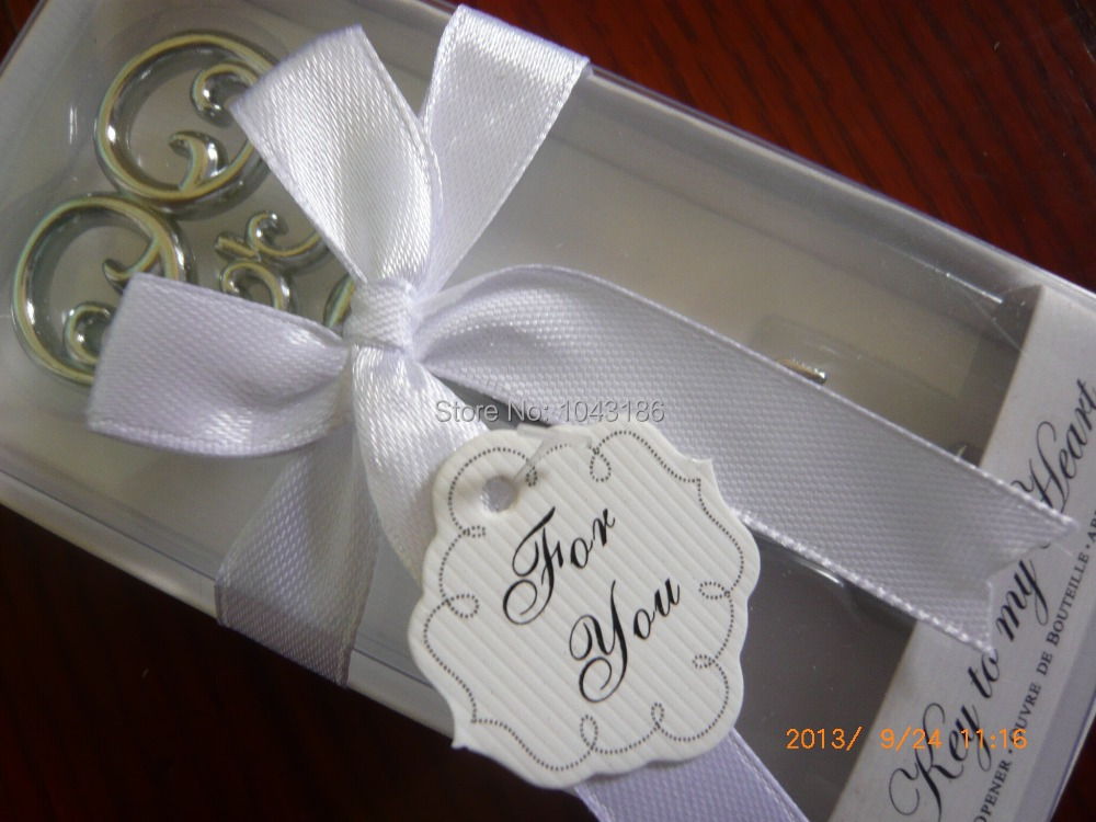 Wedding favor gifts and giveaways for guests - 100PCS/LOT Key to my Heart Bottle opener gifts Party Supplies