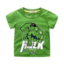 цены NEW Hulk T-shirt BABY Boy Cute tops 3D print cotton t-shirt cartoon tshirt clothing Short Sleeves Children Summer Kid 2019 Tees