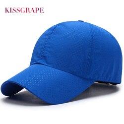Genuine kissgrape unisex men women 2017 summer snapback quick dry mesh baseball cap sun hat bone.jpg 250x250