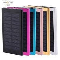 Wopow Güneş Enerjisi banka 30000 mah 2 USB Portu LED Harici bataryalı Için Cep Telefonu Için 30000 mah PowerBank Iphone xiaomi 5