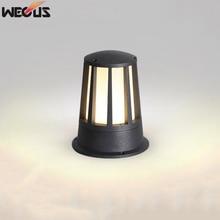 (WECUS)Patio pillar lamp, LED outdoor column garden villa waterproof (IP55) lawn lamp