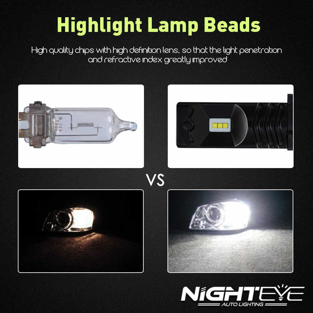 Led Lights For Cars >> Detail Feedback Questions About Nighteye H7 Led Lights Cars