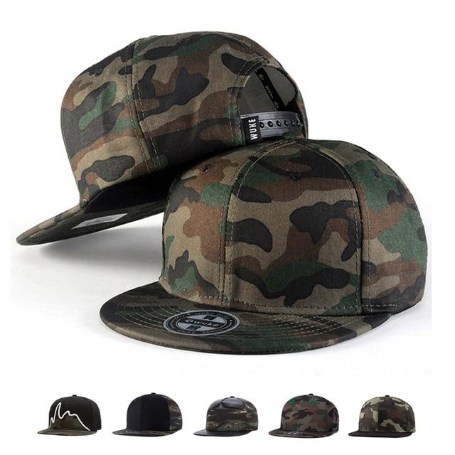 Camo Snapback Caps 2017 New Hip Hop Hats For Men Women Camouflage Baseball  Cap Style 117db62c1bd3