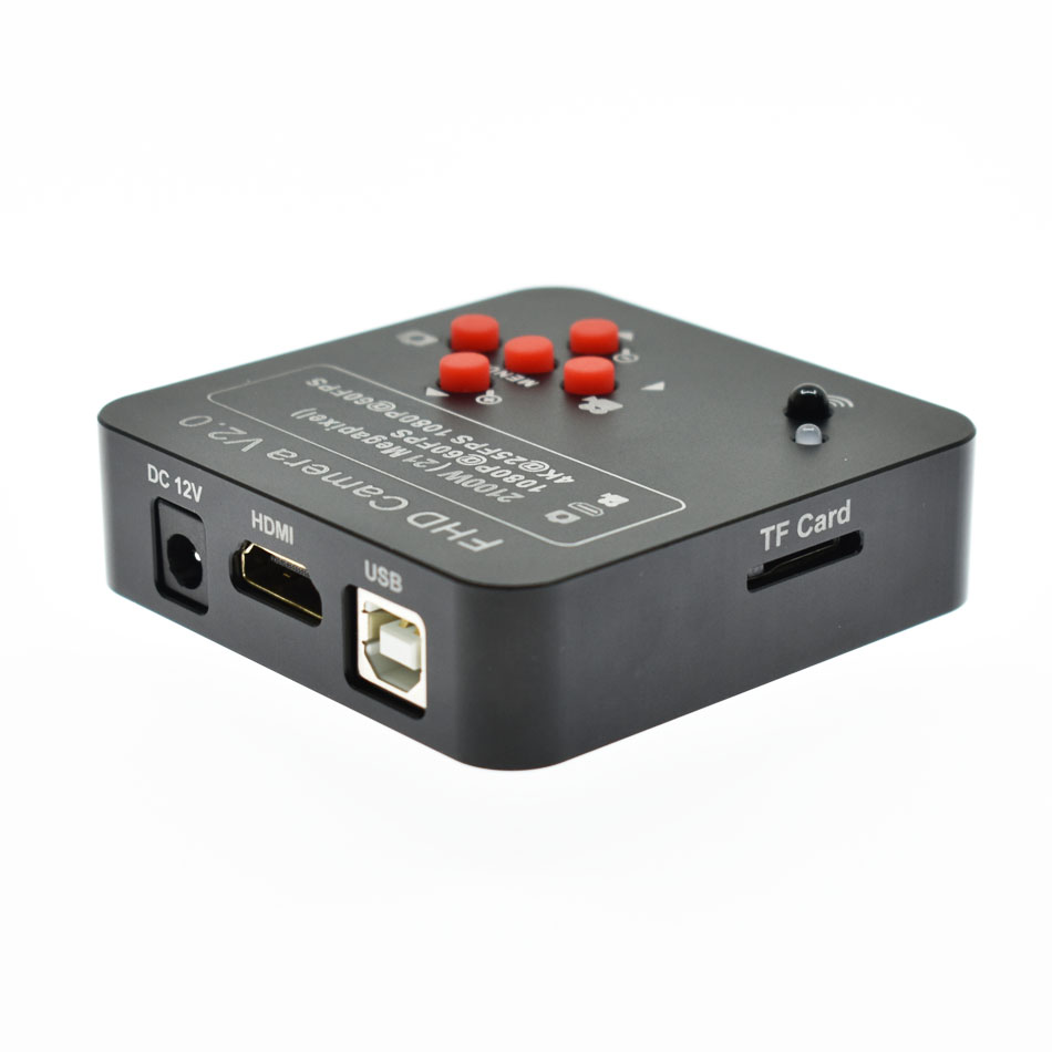 21MP 2 k 1080 p 60fps L'industrie Vidéo Caméra HDMI USB Sortie Simultanée HD Microscope Loupe TF Puce De Stockage De Téléphone réparation