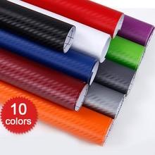 hot deal buy 3d carbon fiber pvc car wrap sheet roll film car stickers decals motorcycle car styling exterior accessories 127*30cm/50cm/60cm