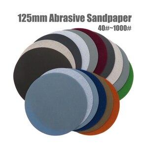 Image 1 - 20 adet 5 inç (125mm) silikon karbür kanca ve döngü su geçirmez zımpara diskleri islak/kuru yuvarlak aşındırıcı zımpara