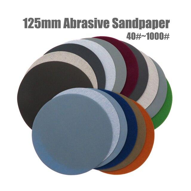 20 adet 5 inç (125mm) silikon karbür kanca ve döngü su geçirmez zımpara diskleri islak/kuru yuvarlak aşındırıcı zımpara