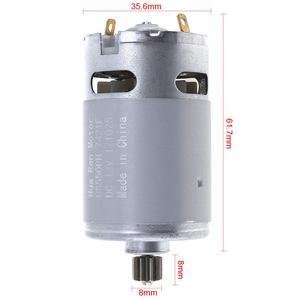 """Image 3 - RS550 12V 16.8V 21V 25V 19500 סל""""ד מנוע DC עם אחת מהירות 9 שיניים גבוהה מומנט הילוך תיבת עבור חשמלי מקדחה/מברג"""