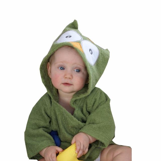 Pijamas del bebé Niñas Traje Albornoces Homewear Del Bebé Muchachas de Los Muchachos de la Historieta Albornoz Toalla Infantil