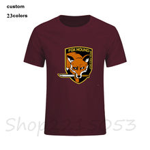 Mgs fox hound metall gear Men t shirts 2018 fashion vintage male t-shirt oodjis dragon ball fitness riverdale 3d tshirt lil peep(China)