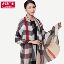 2016 Big Luxury Brand Tartan Scarf Women Fashion Grid Scarves Mandala Blankets Soft Silk Summer Winter Wrap Warm Plaid Shawl