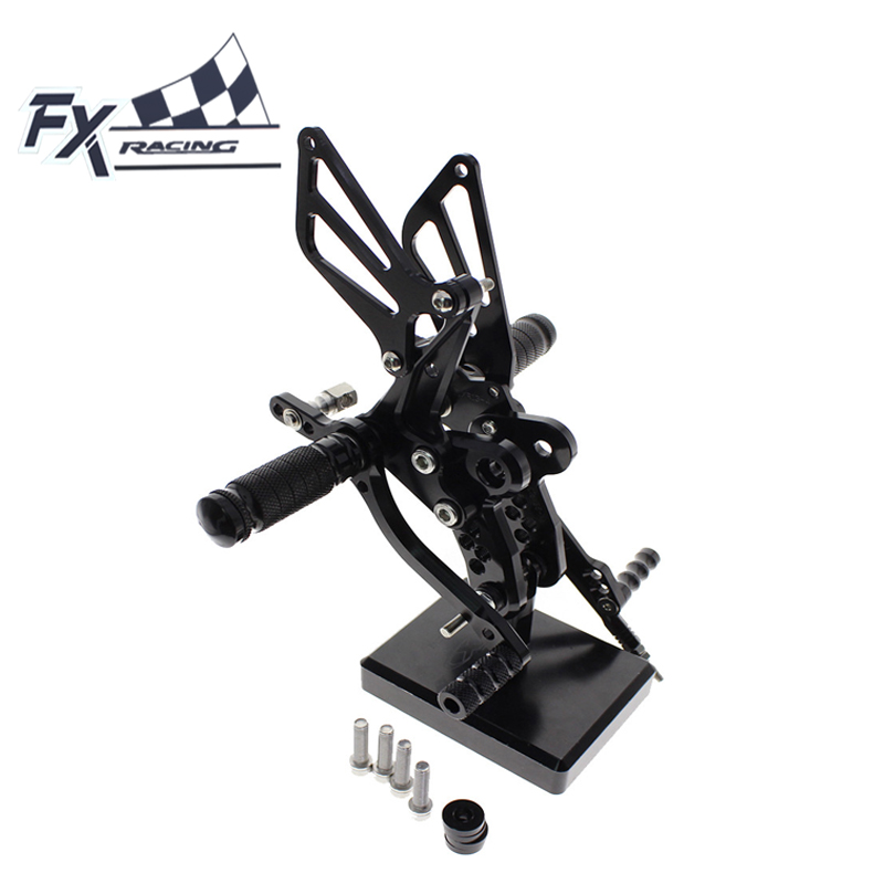 CNC Motorcycle Foot Pegs Rest Footpegs Pedals Rearset Footrest Rear Set For Suzuki GSXR1300 HAYABUSA GSX 1300R 1999 - 2012 2000 cnc aluminum motorcycle adjustable rearset rear set foot pegs pedal footrest for kawasaki ninja 650 ex650 er 6n er 6f 2012 2016