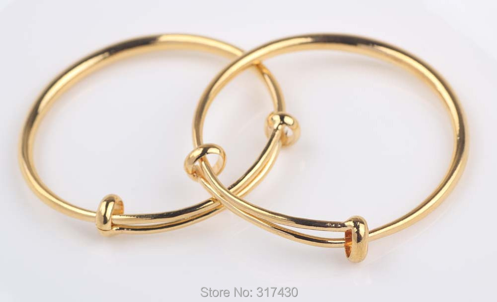Vogue 24k Yellow Gold Filled Baby S Bracelet Bangle Smooth Plain Adjule For Boy Or In Bangles From Jewelry Accessories On