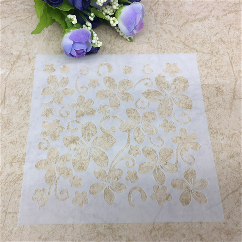 1 Sheet Flower Layering Stencils For DIY Scrapbooking/photo Album Decorative Embossing DIY Paper Cards Crafts