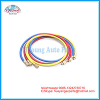 Car A/C Air Conditioning Refrigerant hose 72 inch long with 45 degree Quick Seal fittings.