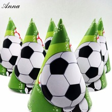 6pcs /bag Football Caps Theme Party Kids/Boys Happy Birthday Decoration Supplies Cup