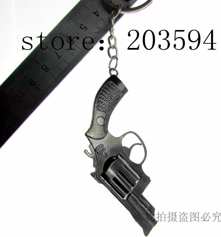 QQQ111 Wholesale black gun key chain/ Alloy key chain/ lovey key chain