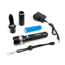 EVERBRITE Multifunction Tactical Flashlight with Knife Chargeable LED Flash Light Torch Security Torch Light
