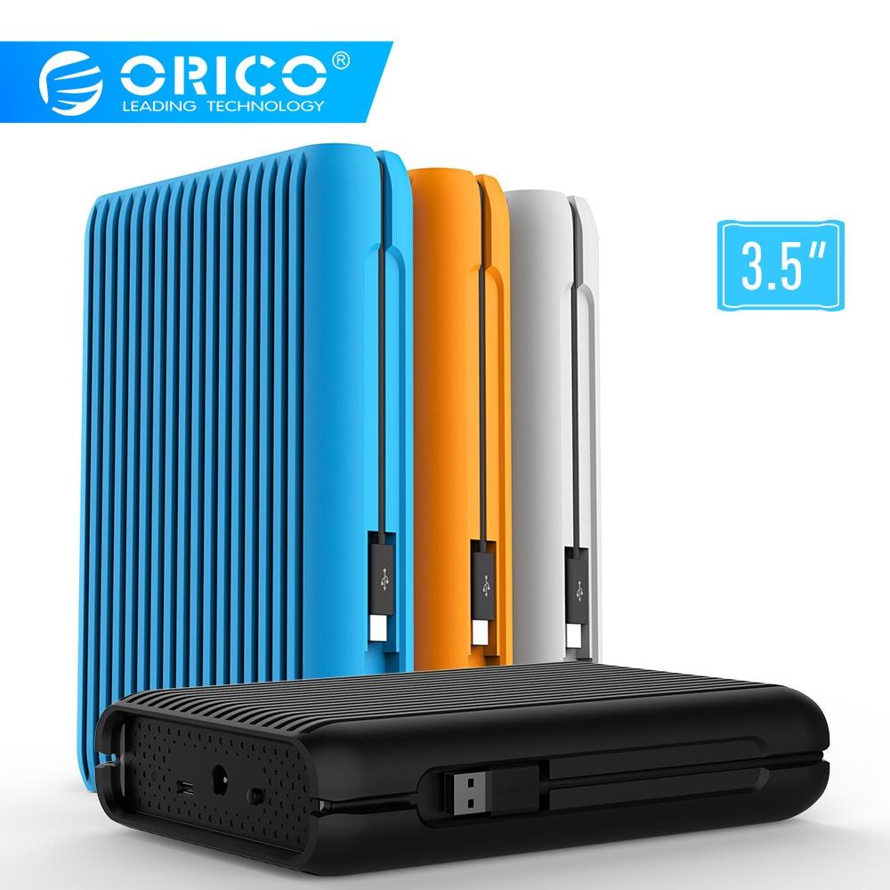 Orico Hdd 1/2/3/4 Tb Usb3.1 Gen2 TYPE-C 3.5 Em 10 Gbps Discos Rígidos Externos à Prova De Choque De Alta Velocidade Hdd Desktop Disco Rígido Móvel