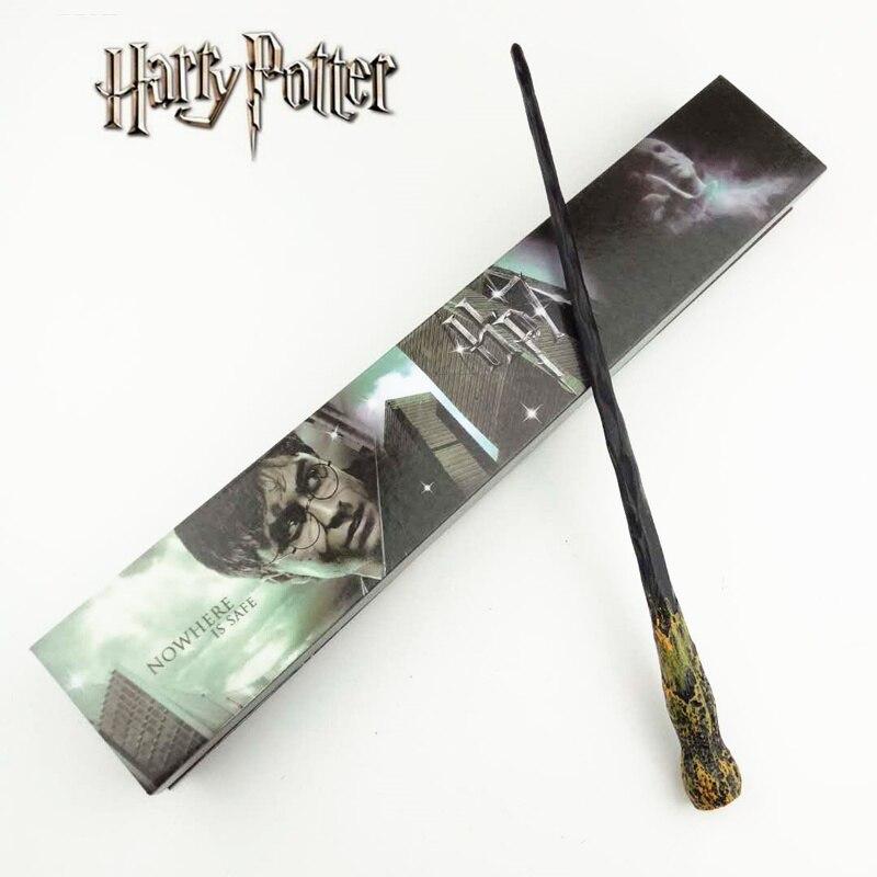Cosplay Ron Weasley Rôle Jouer Magique Baguette Magique Cadeau Dans la Boîte En Métal Core Harry Potter Baguette Magique