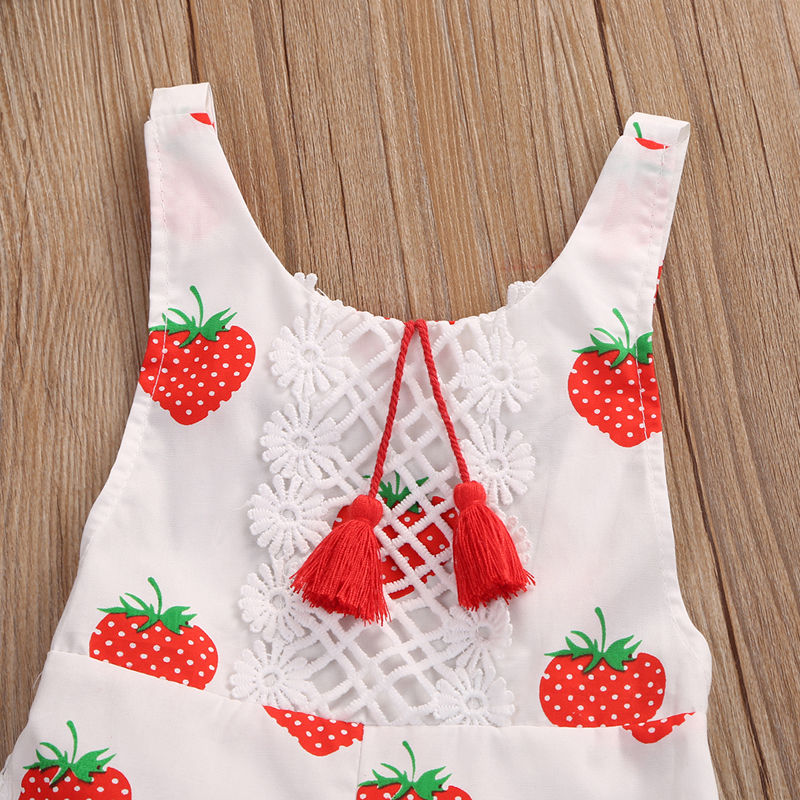 f6dc4c8f3 Cute Newborn Fashion Baby Rompers Strawberry printed Toddler Baby ...