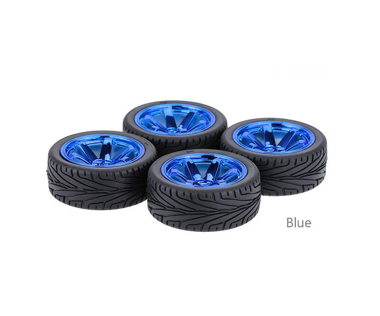 4pcs 1/10 RC On-road car tires fit for 1/10 Traxxas HSP Tamiya Kyosho RC on road car 67mm hsp 1 10 off road buggy body 2pcs 31 17 6cm 10706 10707 106ma2 rc car electric rc car bodyshell for 94107 94107pro
