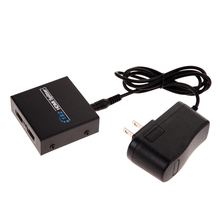 Premium Version HDMI Splitter Full HD 1x2 Port Amplifier Repeater 3D 1080p Female for PS3 with AC/DC Power Adapter
