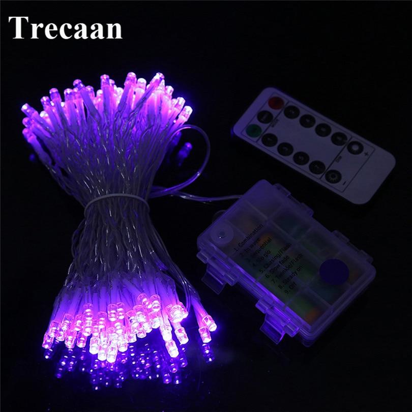 10 M 100 Led LED Fée Guirlande lumineuse € Piles avec 8 Modes