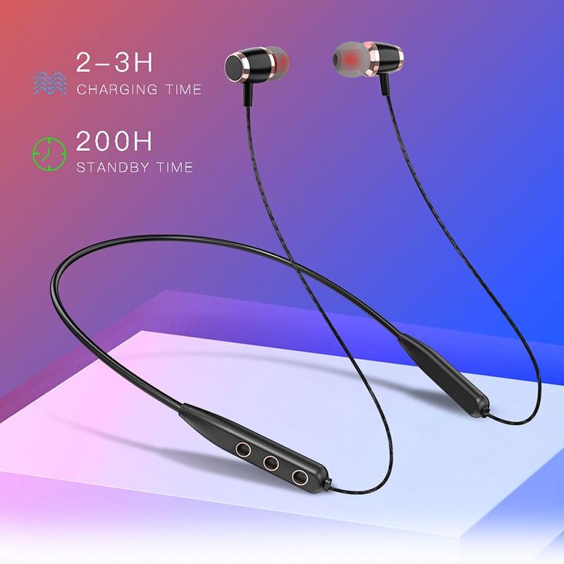 Sport Wireless Bluetooth Headset 5.0 Stereo Bass Headset Wireless Waterproof Earphones Headphones In-ear Earphone Earbuds